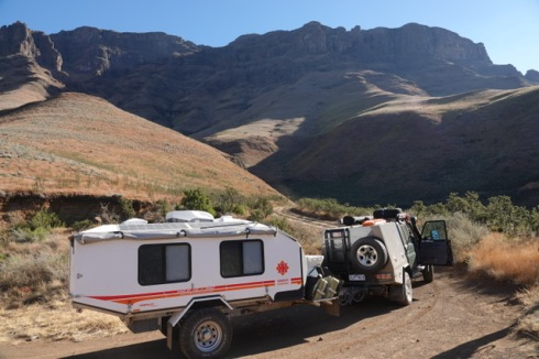 The start of the Sani Pass.